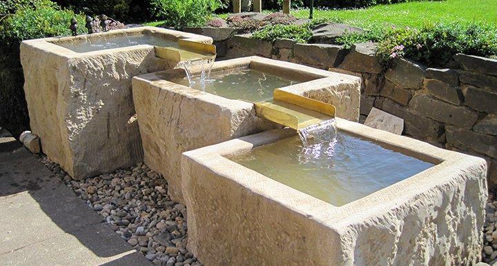 natursteinbrunnen im garten, Design ideen